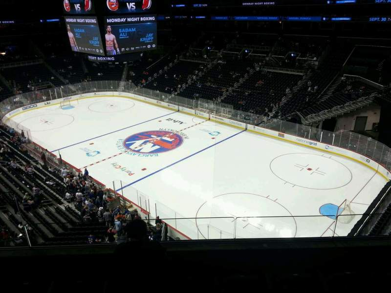 Seating view for Barclays Center Section 203 Row 4 Seat 17