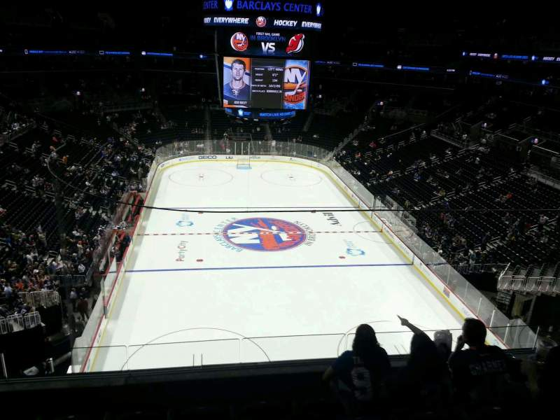 Seating view for Barclays Center Section 201 Row 5 Seat 1