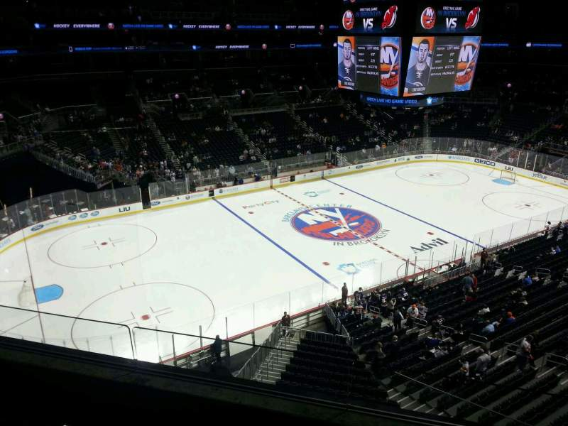 Seating view for Barclays Center Section 228 Row 3 Seat 13