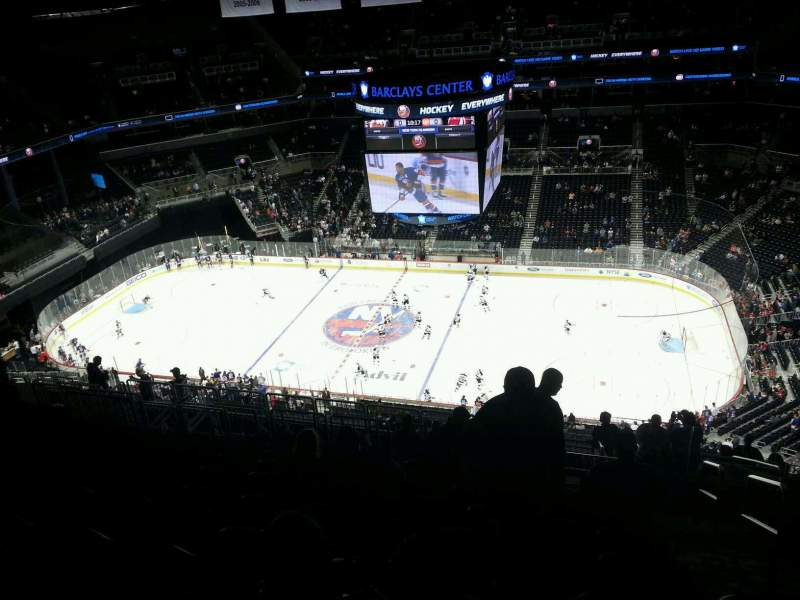 Seating view for Barclays Center Section 223 Row 15 Seat 2