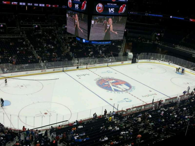 Seating view for Barclays Center Section 211 Row 2 Seat 1