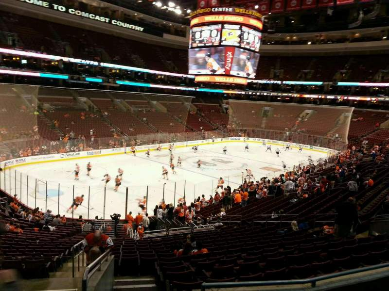 Seating view for Wells Fargo Center Section Club Box 22 Row 4 Seat 1