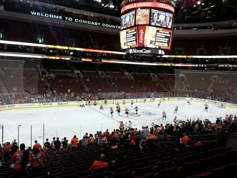 Seating view for Wells Fargo Center Section Club Box 23 Row 1 Seat 7