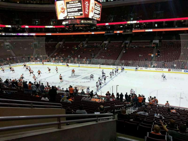 Seating view for Wells Fargo Center Section Club Box 3 Row 1 Seat 3