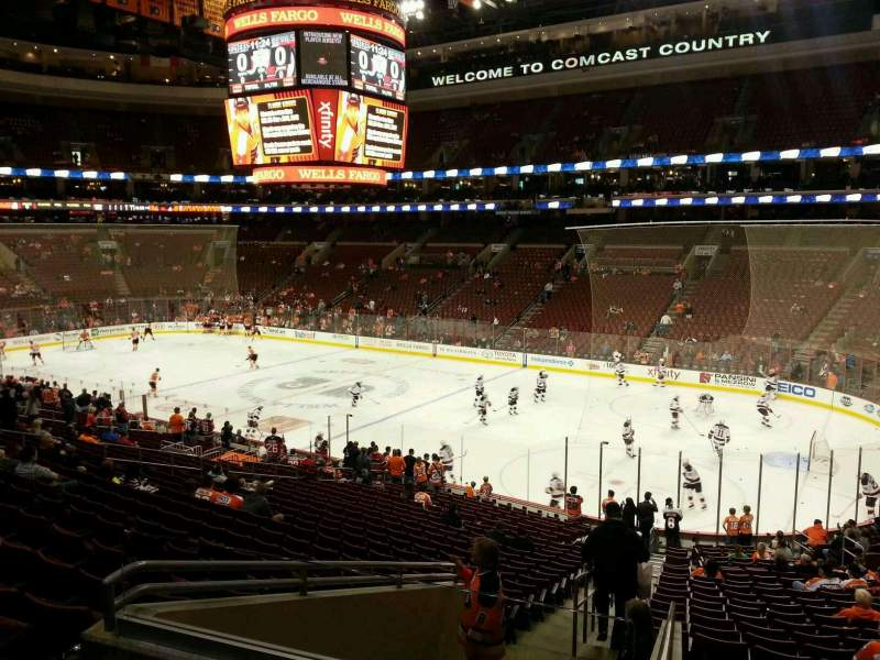Seating view for Wells Fargo Center Section Club Box 4 Row 3 Seat 1