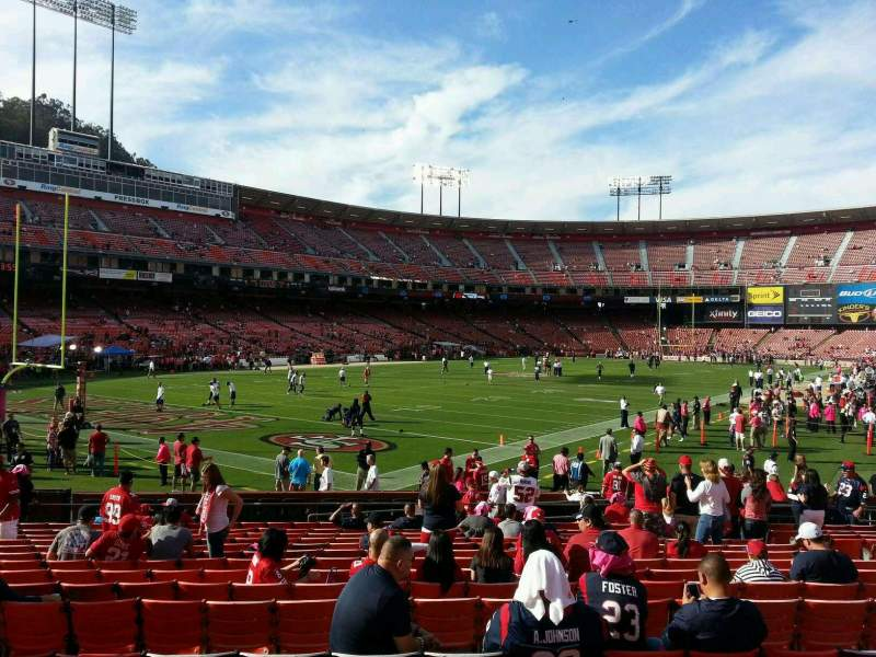Seating view for Candlestick Park Section 15 Row p Seat 11