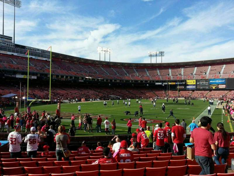Seating view for Candlestick Park Section 13 Row k Seat 7