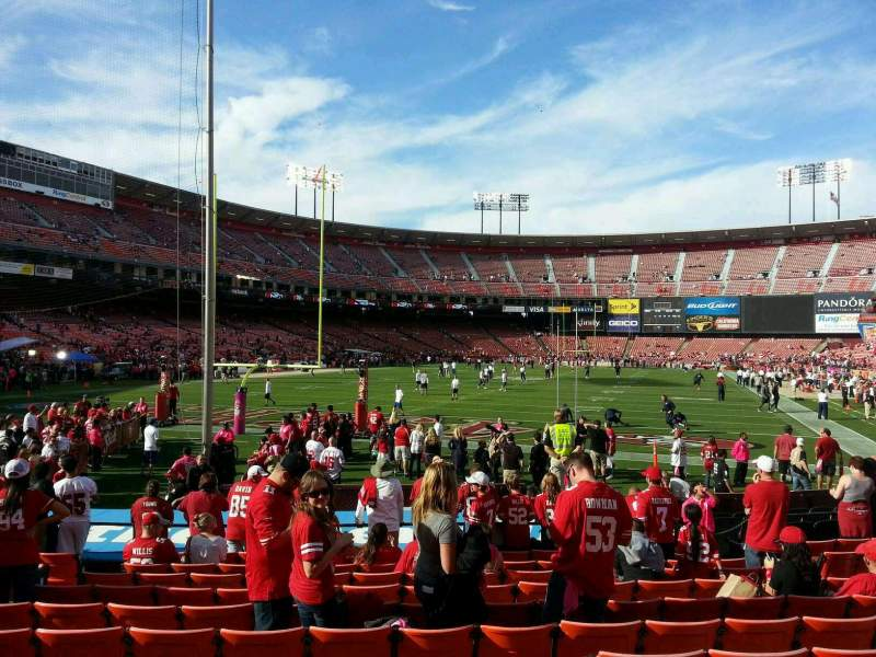 Seating view for Candlestick Park Section 11 Row k Seat 11