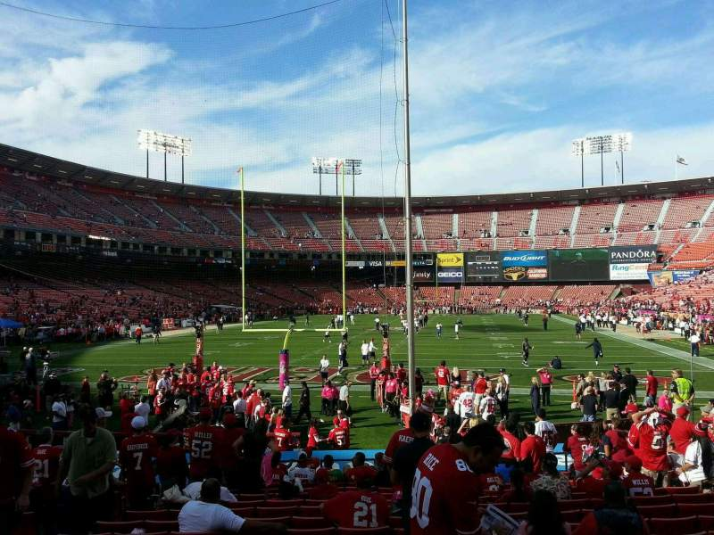 Seating view for Candlestick Park Section 9 Row o Seat 13