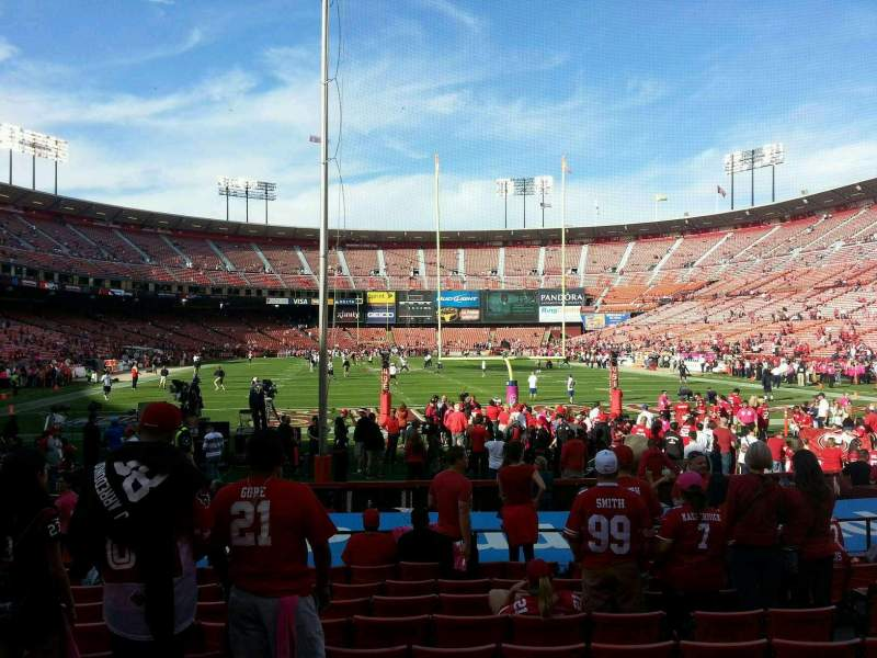 Seating view for Candlestick Park Section 5 Row j Seat 7