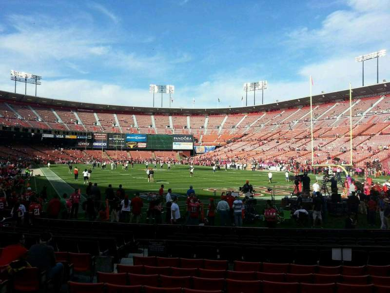Seating view for Candlestick Park Section 1 Row I Seat 15