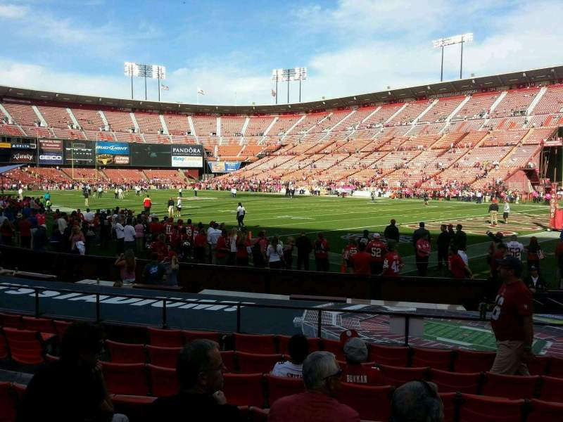 Seating view for Candlestick Park Section 4 Row h Seat 10