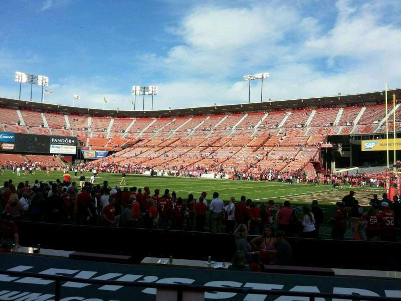 Seating view for Candlestick Park Section 6 Row d Seat 6