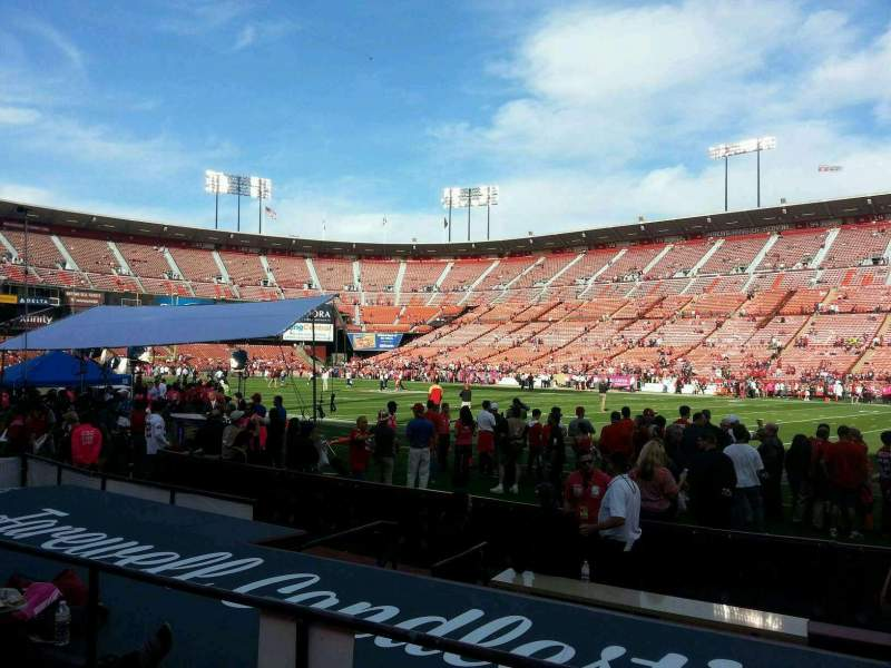 Seating view for Candlestick Park Section 8 Row c Seat 5