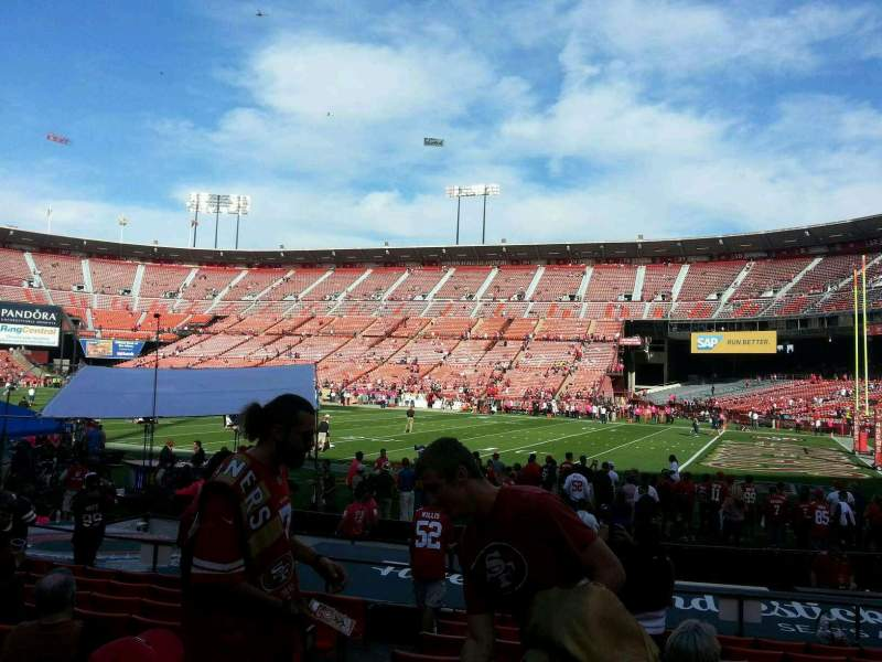 Seating view for Candlestick Park Section 8 Row j Seat 14