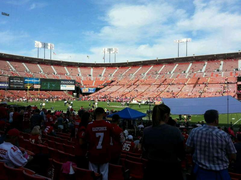 Seating view for Candlestick Park Section 10 Row k Seat 14