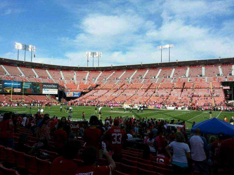 Seating view for Candlestick Park Section 12 Row k Seat 17