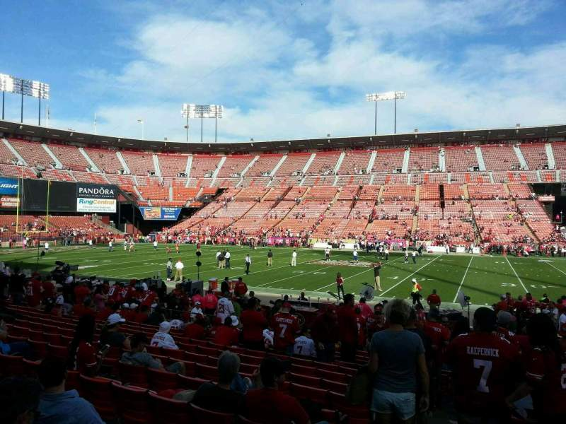 Seating view for Candlestick Park Section 14 Row n Seat 25