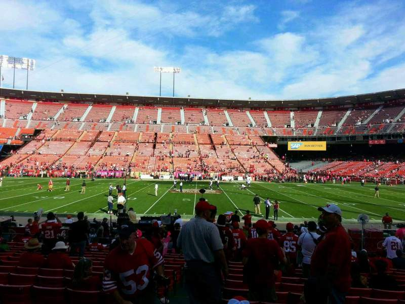 Seating view for Candlestick Park Section 16 Row o Seat 26