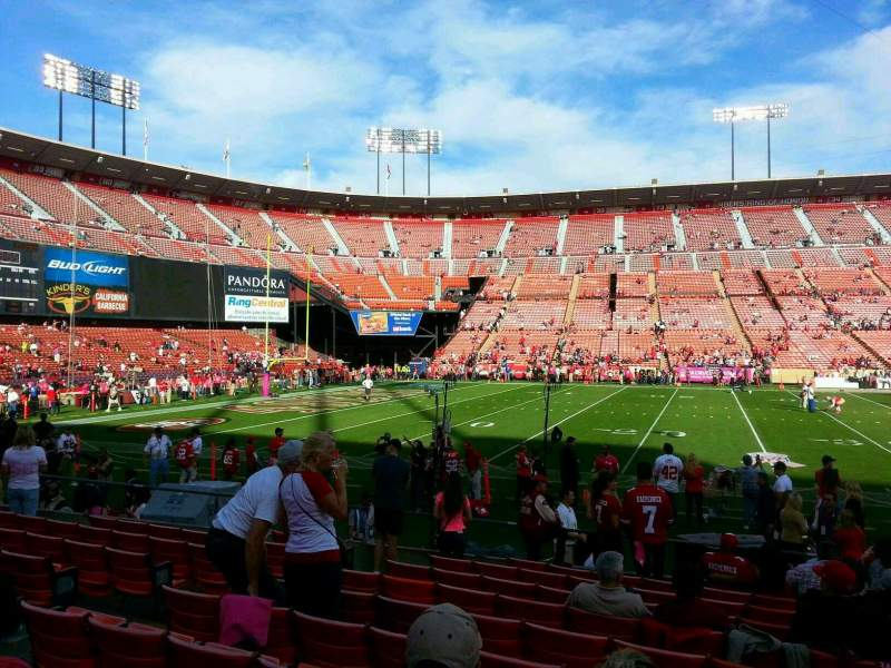 Seating view for Candlestick Park Section 20 Row k Seat 20