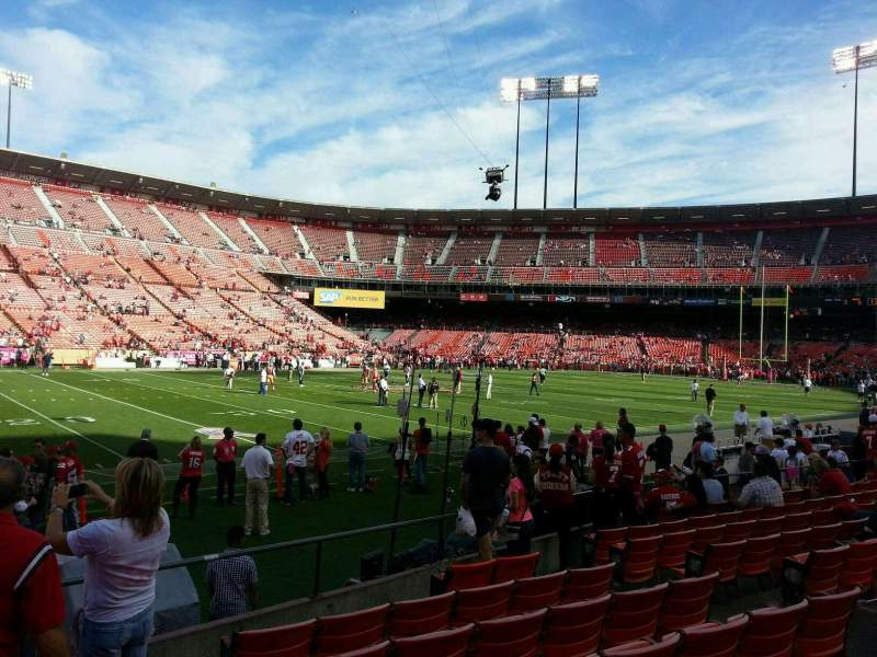 Seating view for Candlestick Park Section 22 Row I Seat 9