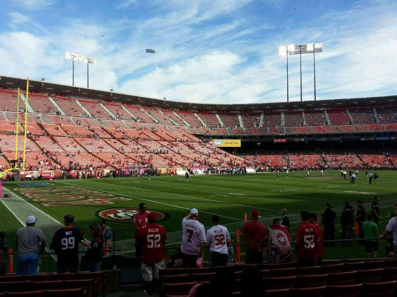 Seating view for Candlestick Park Section 26 Row 9 Seat 16