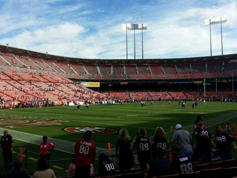 Seating view for Candlestick Park Section 28 Row 7 Seat 13