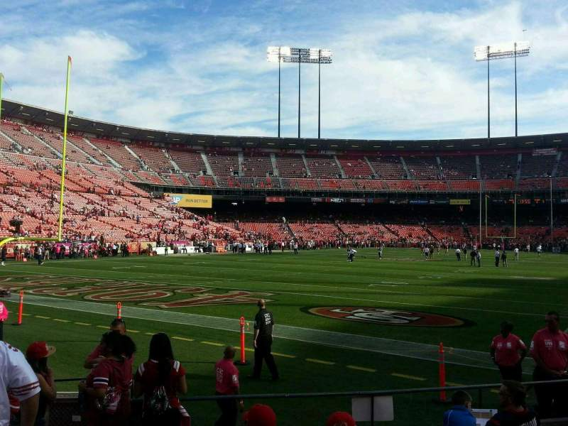 Seating view for Candlestick Park Section 30 Row 7 Seat 14
