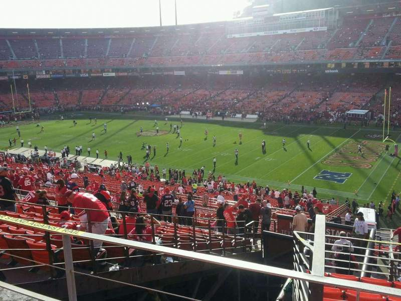 Seating view for Candlestick Park Section 53 Row b Seat 6