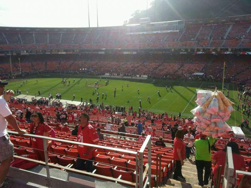 Seating view for Candlestick Park Section 51 Row 6 Seat 7