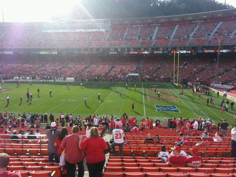Seating view for Candlestick Park Section 34 Row 30 Seat 18