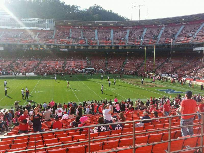 Seating view for Candlestick Park Section 35 Row 22 Seat 16