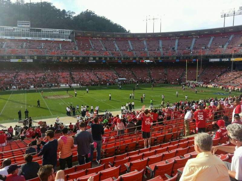 Seating view for Candlestick Park Section 29 Row 27 Seat 16