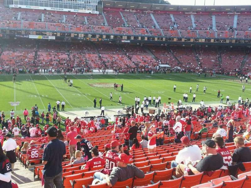 Seating view for Candlestick Park Section 25 Row 33 Seat 1