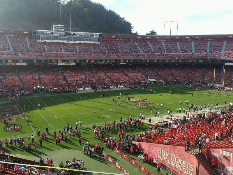 Seating view for Candlestick Park Section 29 Row f Seat 12