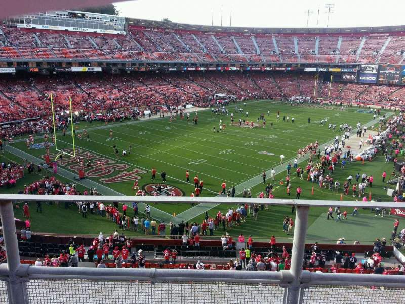 Seating view for Candlestick Park Section 21 Row b Seat 15