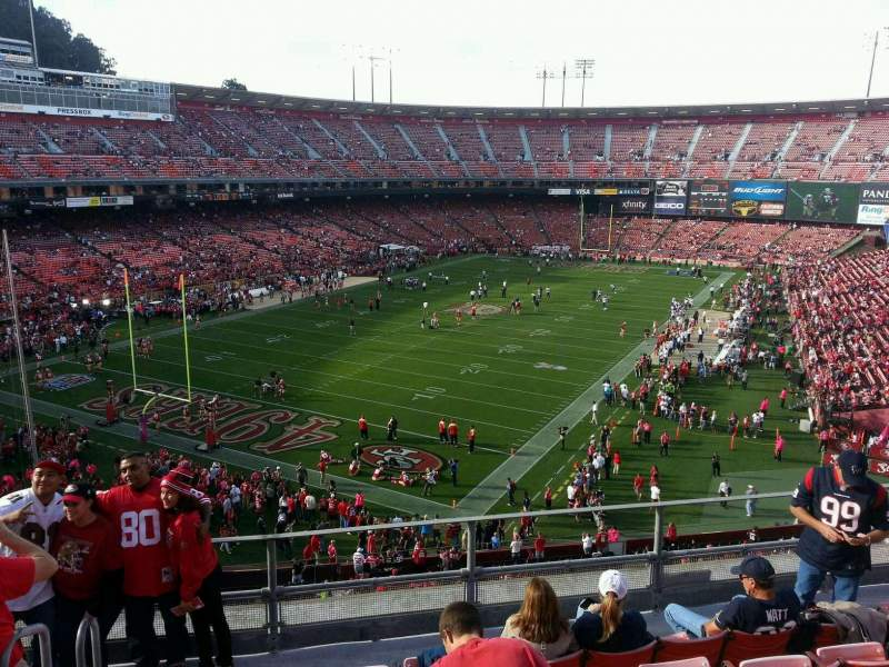 Seating view for Candlestick Park Section 19 Row f Seat 15
