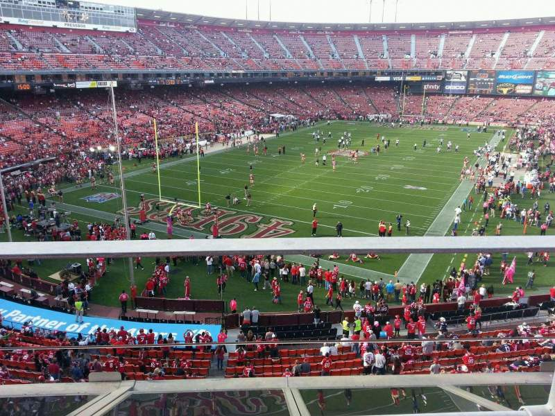 Seating view for Candlestick Park Section 17 Row a Seat 13