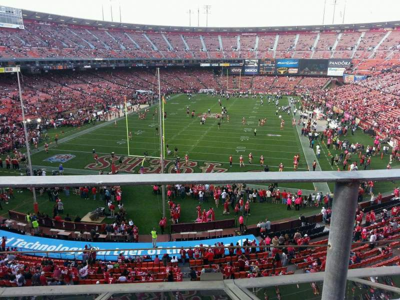 Seating view for Candlestick Park Section 13 Row a Seat 10