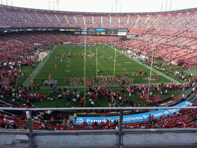 Seating view for Candlestick Park Section 7 Row c Seat 13
