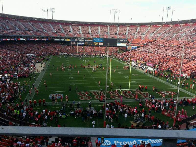 Seating view for Candlestick Park Section 5 Row a Seat 7