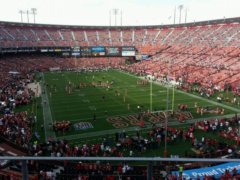 Seating view for Candlestick Park Section 3 Row c Seat 10