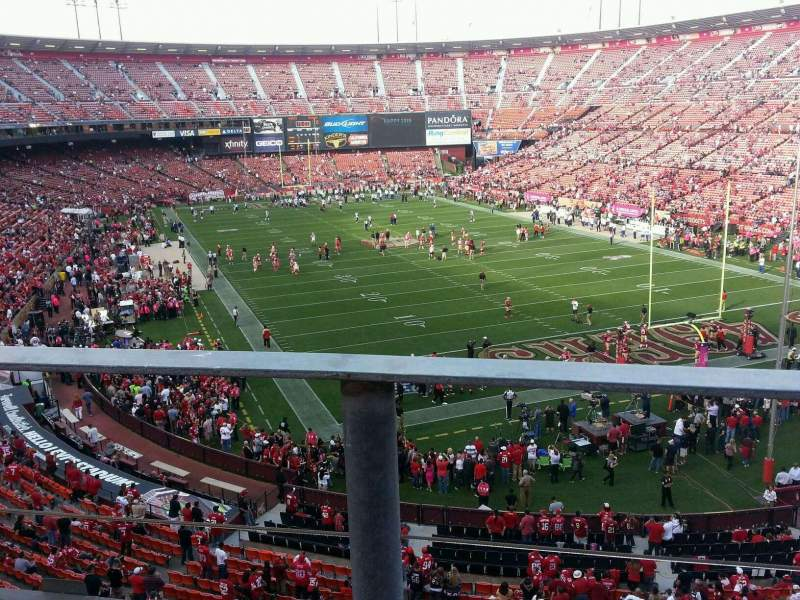 Seating view for Candlestick Park Section 1 Row a Seat 11