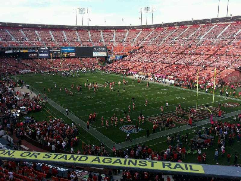 Seating view for Candlestick Park Section 2 Row a Seat 15
