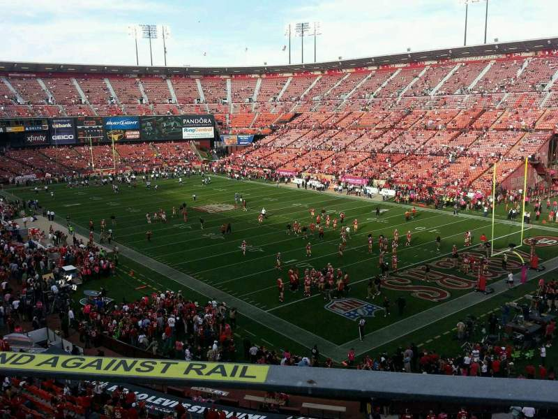 Seating view for Candlestick Park Section 4 Row a Seat 15