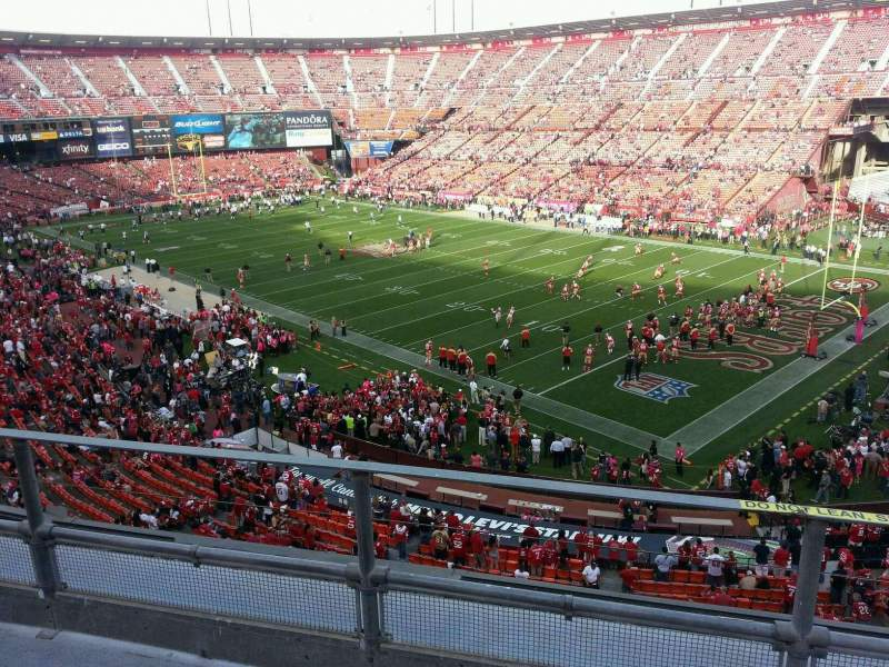 Seating view for Candlestick Park Section 8 Row c Seat 2