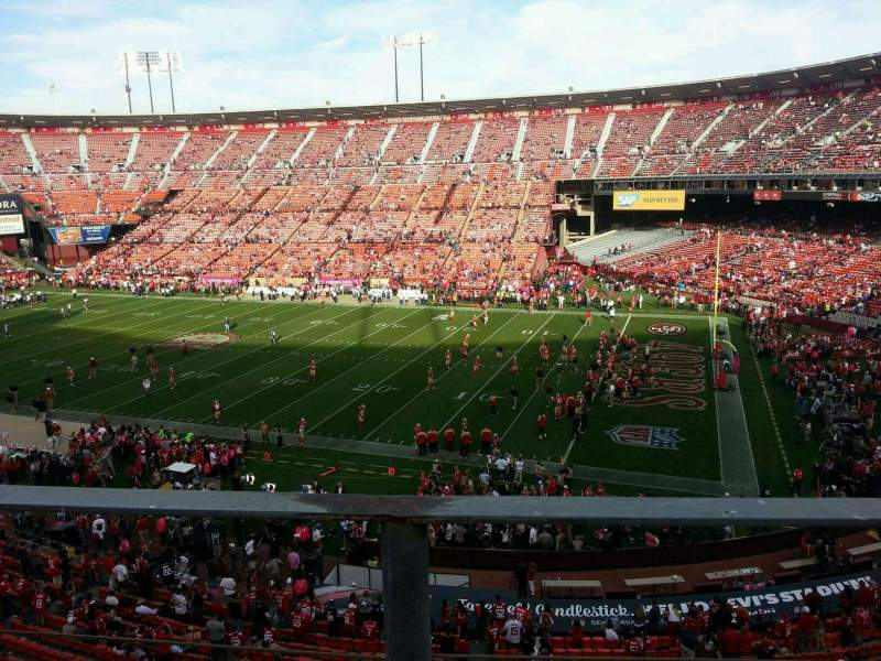 Seating view for Candlestick Park Section 12 Row a Seat 9