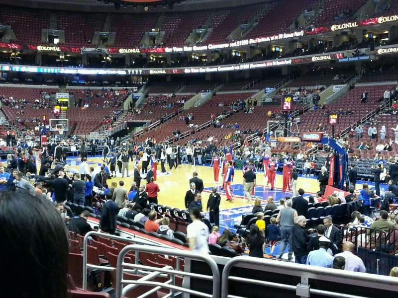 Seating view for Wells Fargo Center Section 104 Row 11 Seat 8