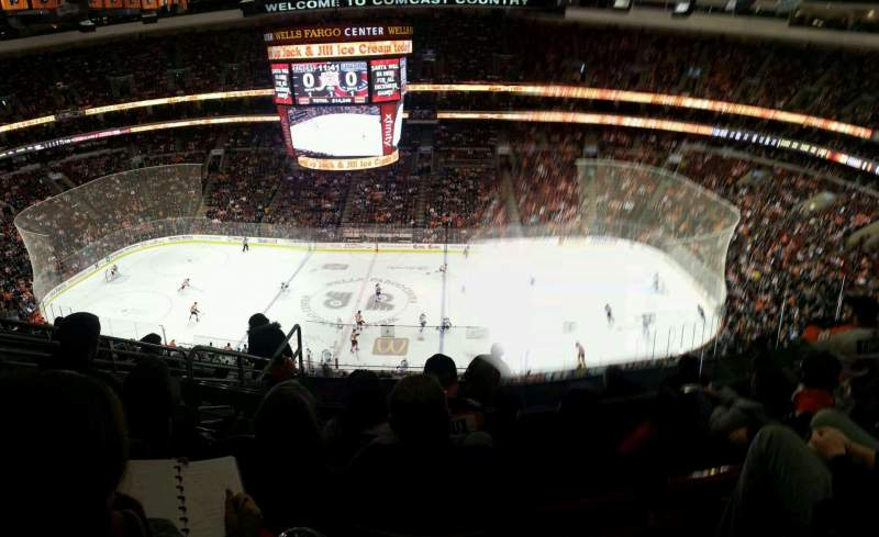 Seating view for Wells Fargo Center Section 202 Row 9 Seat 6