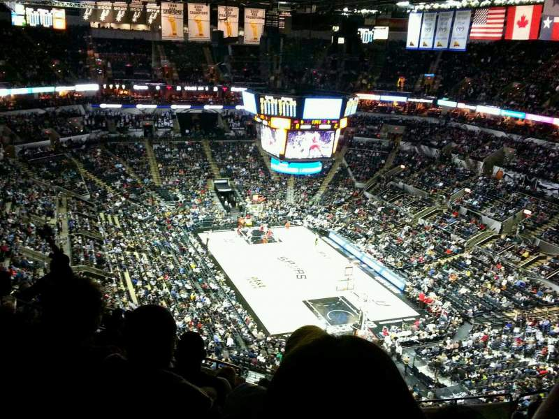Seating view for AT&T Center Section 218 Row 13 Seat 11